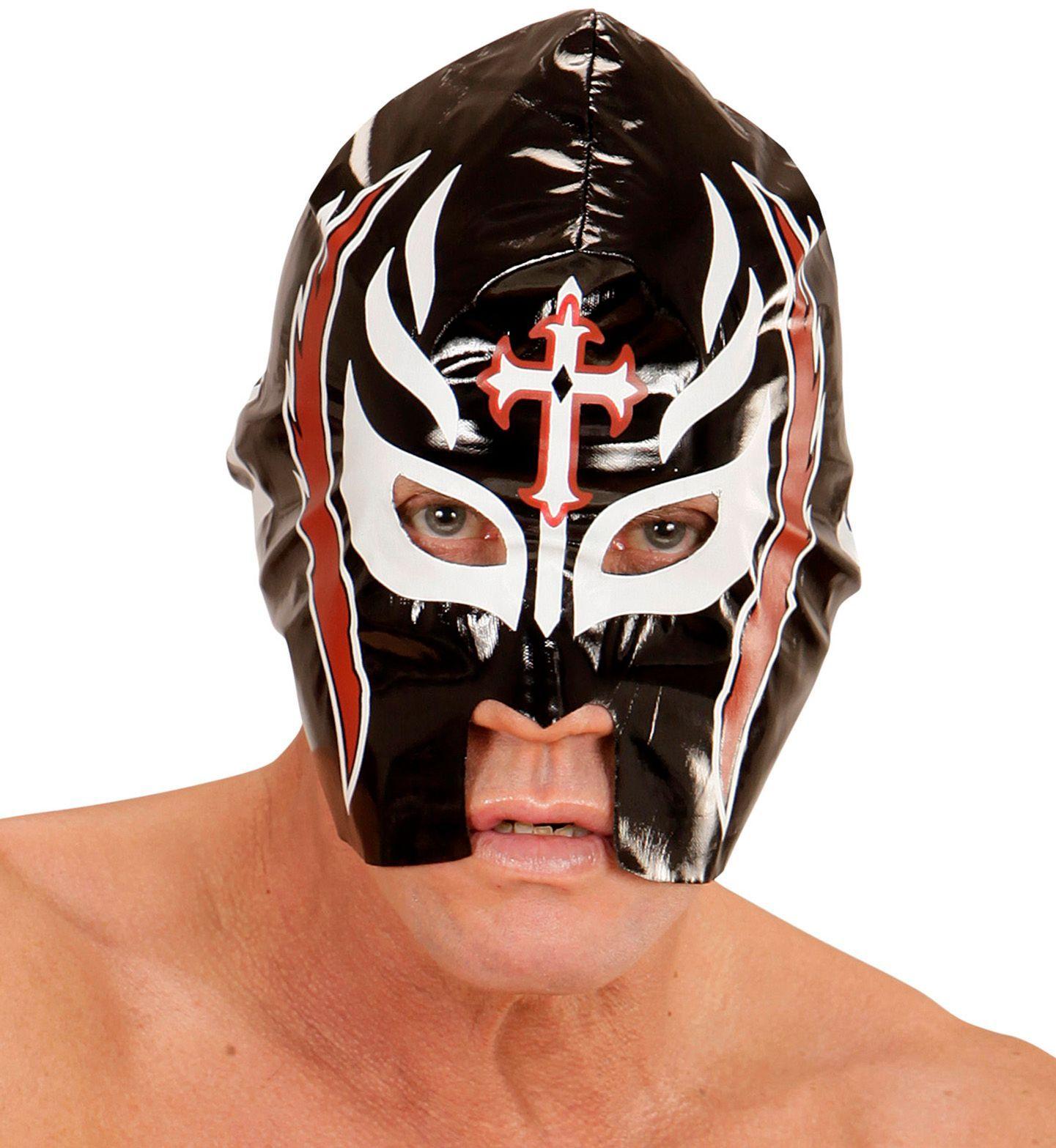 Worstelaar lucha libre masker zwart