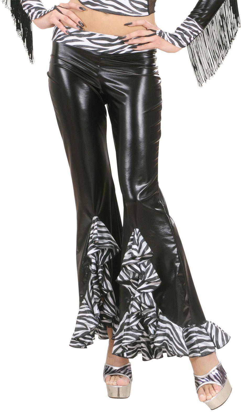 Zebra broek dames