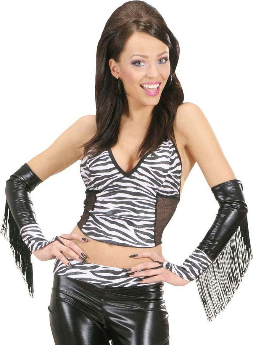 Zebra print handschoenen
