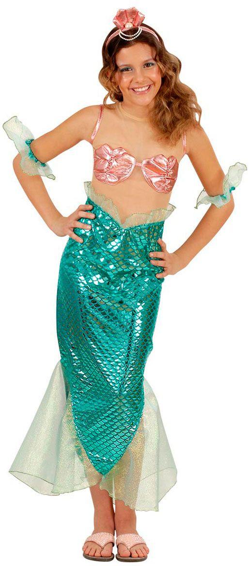 Zeemeermin meisje kostuum