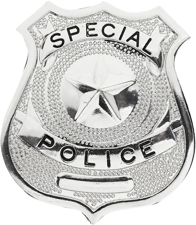 Zilver politie badge