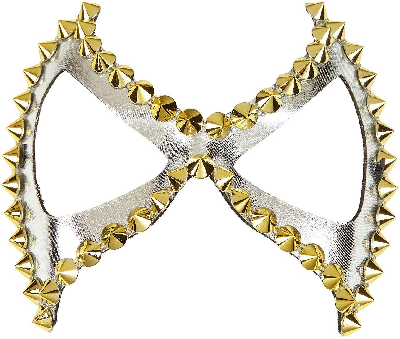 Zilveren Diabolik SM oogmasker met spikes