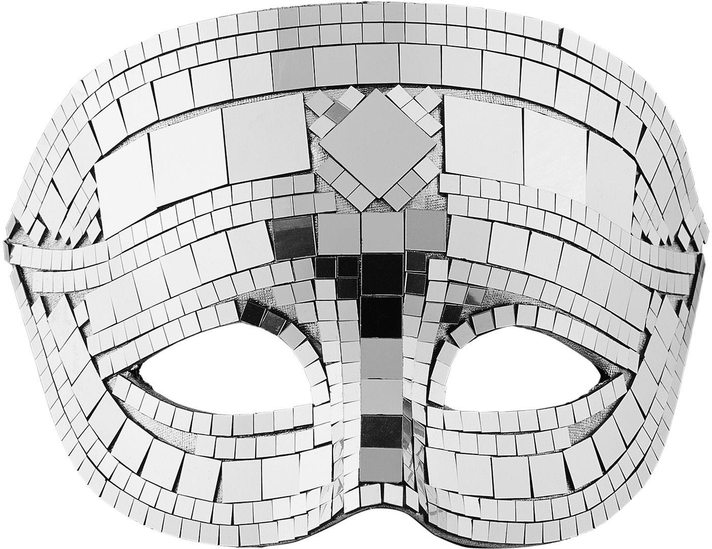 Zilveren disco masker