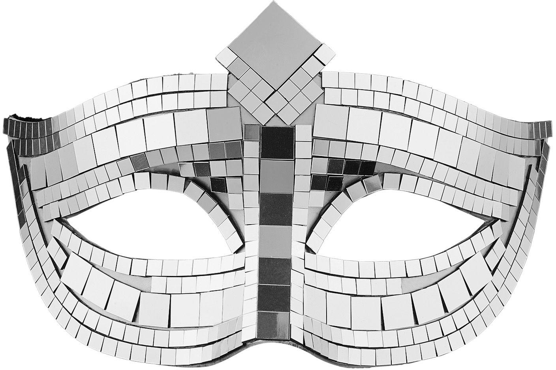 Zilveren disco oogmasker