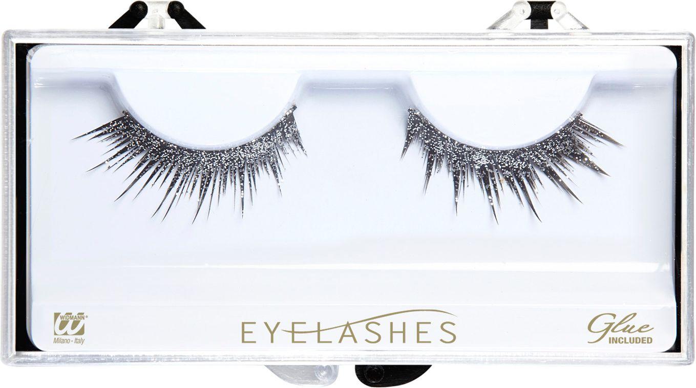 Zilveren glitter oogwimpers
