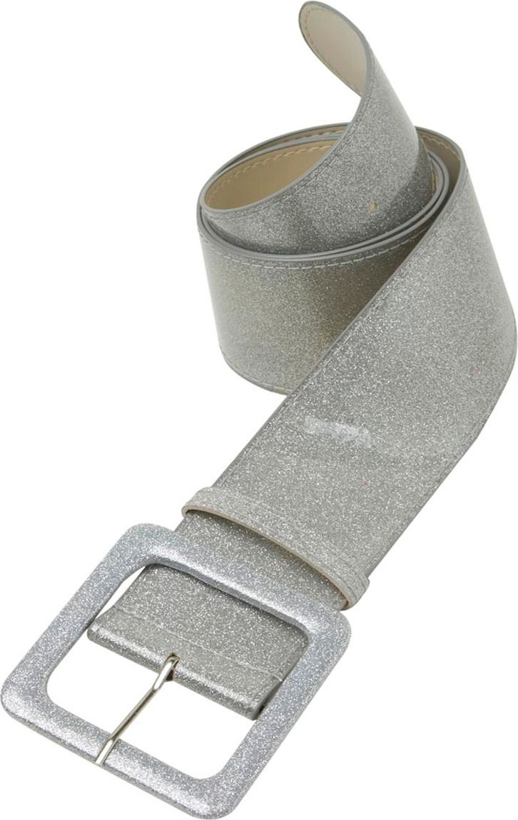 Zilveren glitter riem