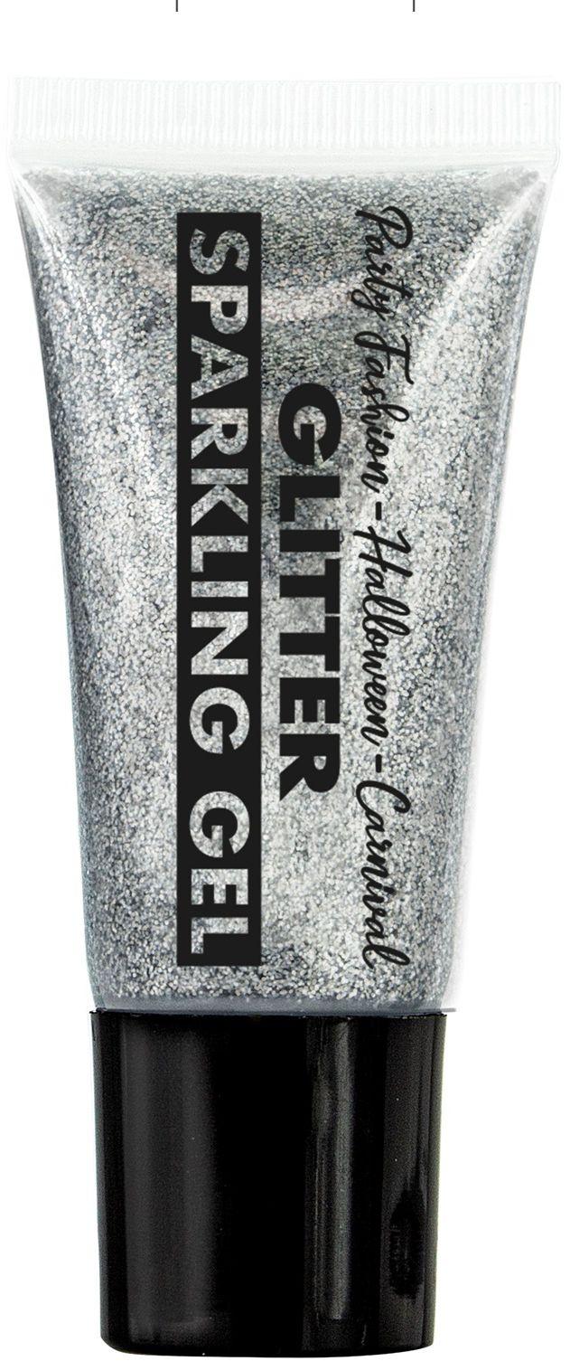 Zilveren glitter schmink in tube
