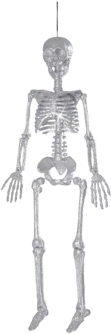 Zilveren glitter skelet