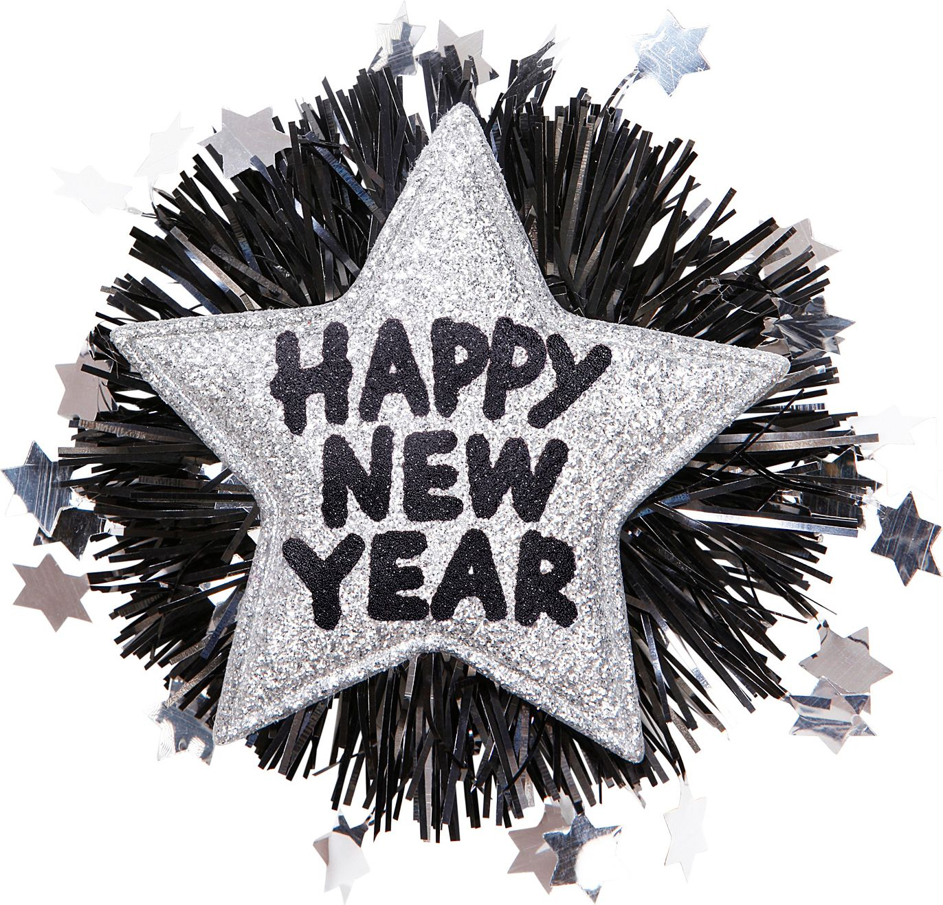 Zilveren Happy New Year broche