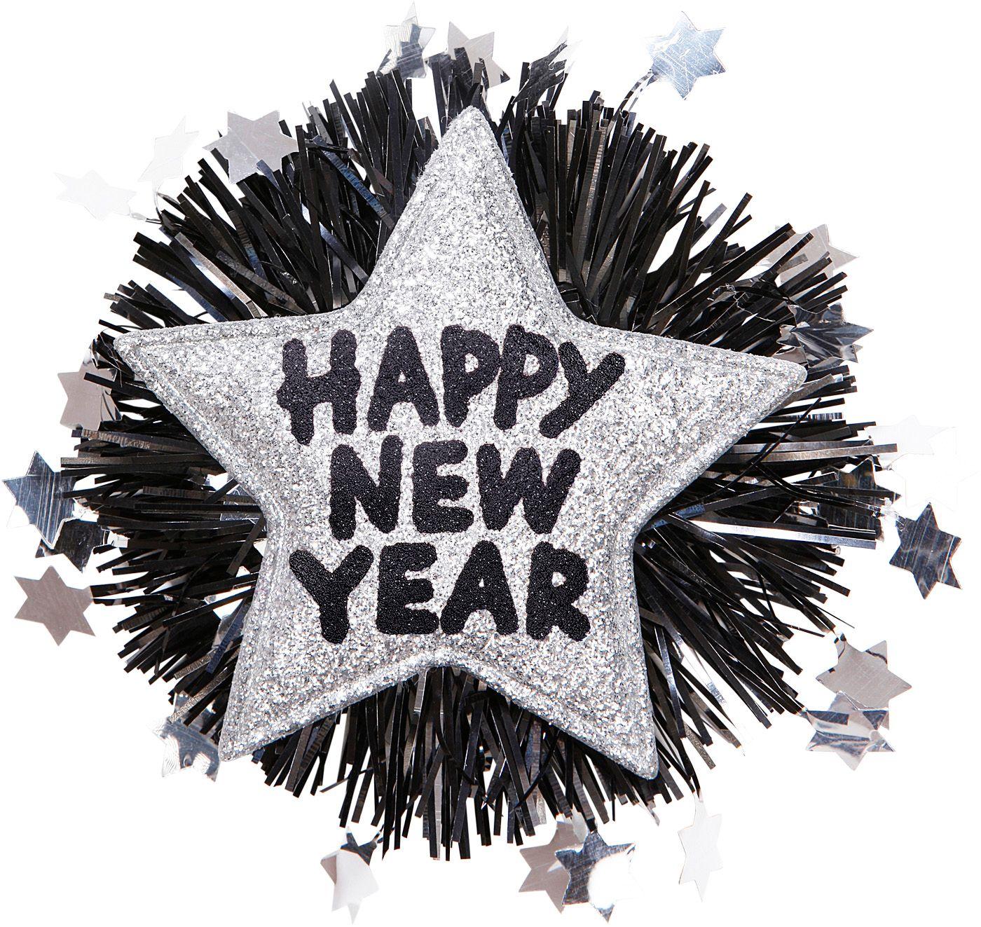 Zilveren Happy New Year broche