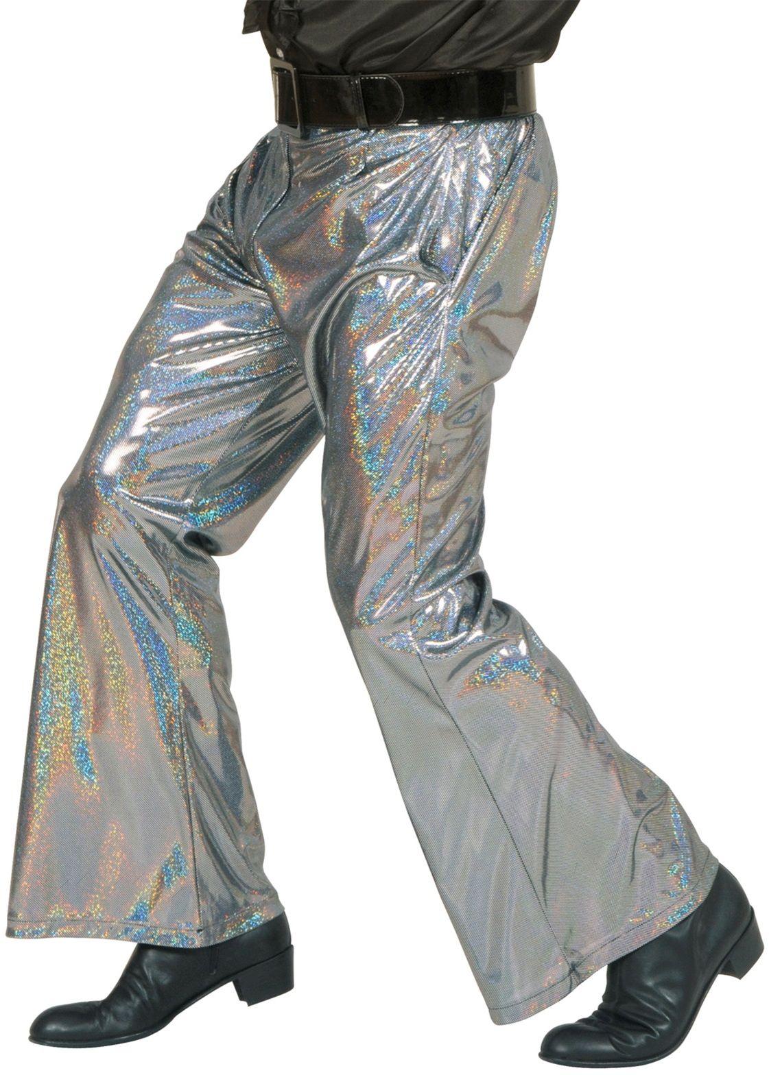 Zilveren holografische broek