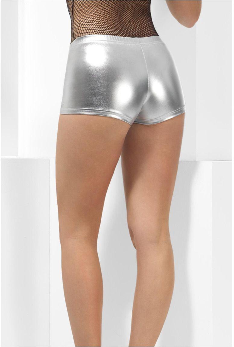 Zilveren hotpants