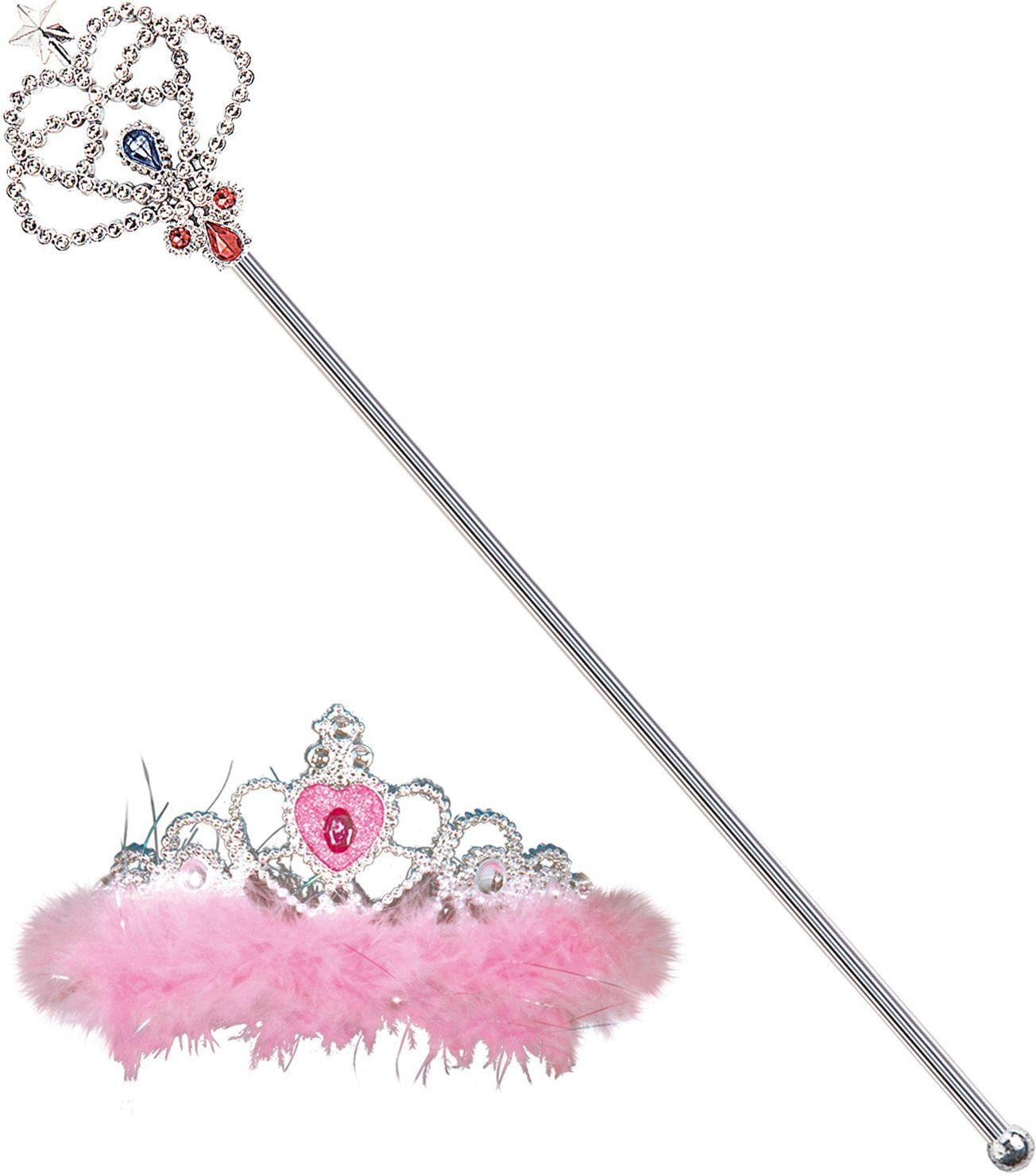 Zilveren kinder tiara met scepter