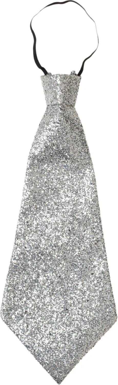 Zilveren lurex stropdas