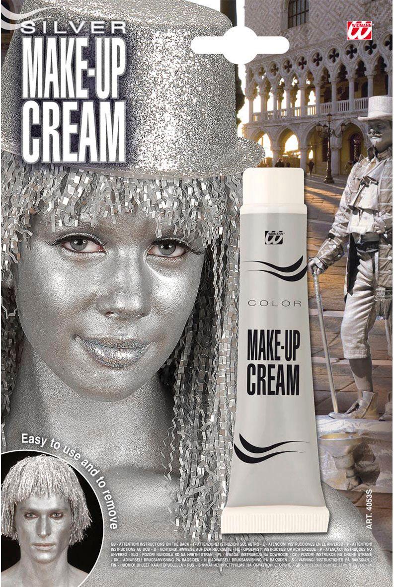 Zilveren make-up in tube