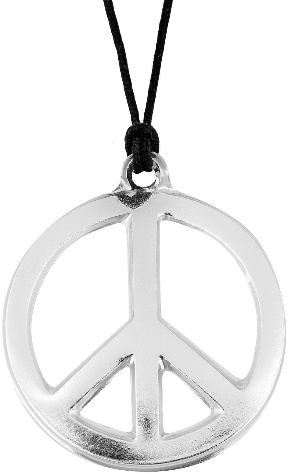 Zilveren metallic hippie ketting