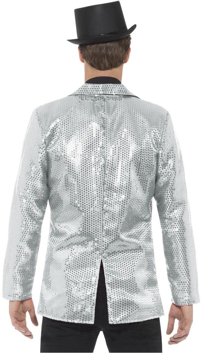 Zilveren pailletten jasje