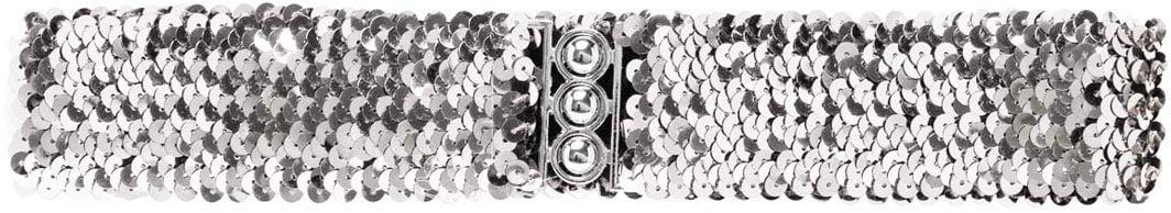 Zilveren pailletten riem