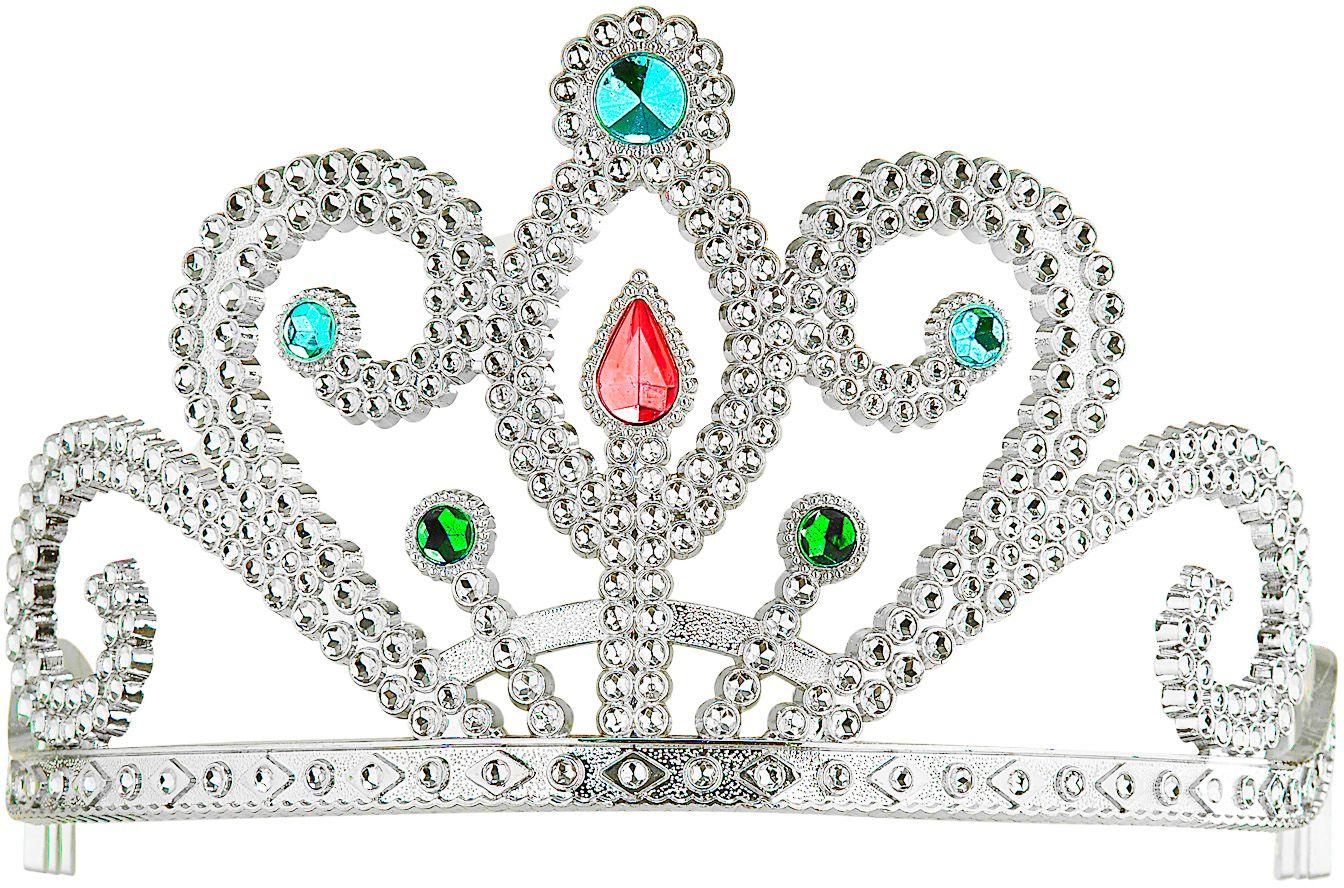 Zilveren prinsessenkroon met diamanten