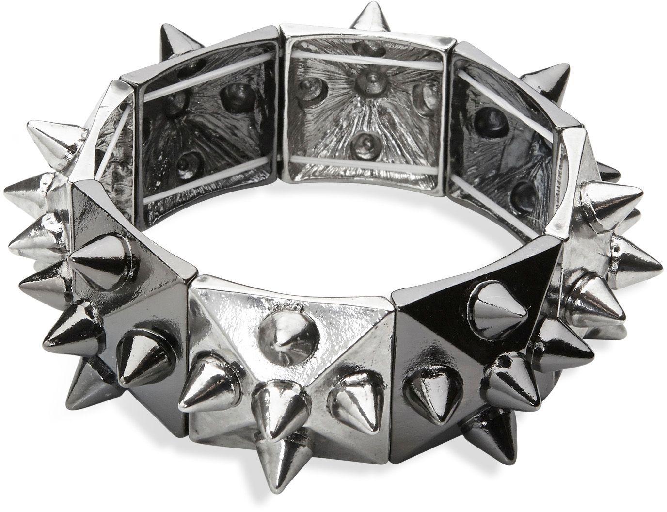 Zilveren punk armband