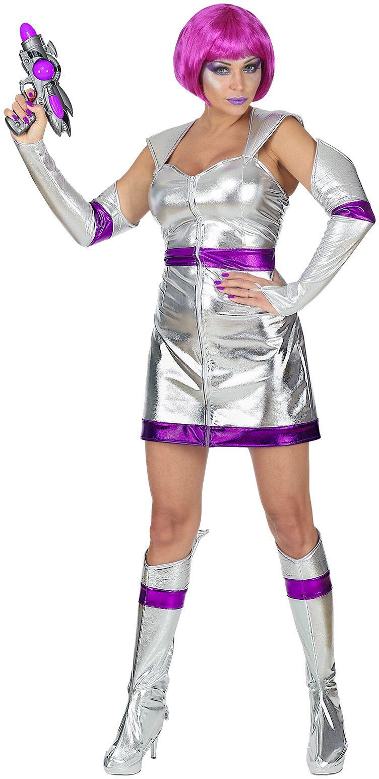 Zilveren ruimte outfit dames
