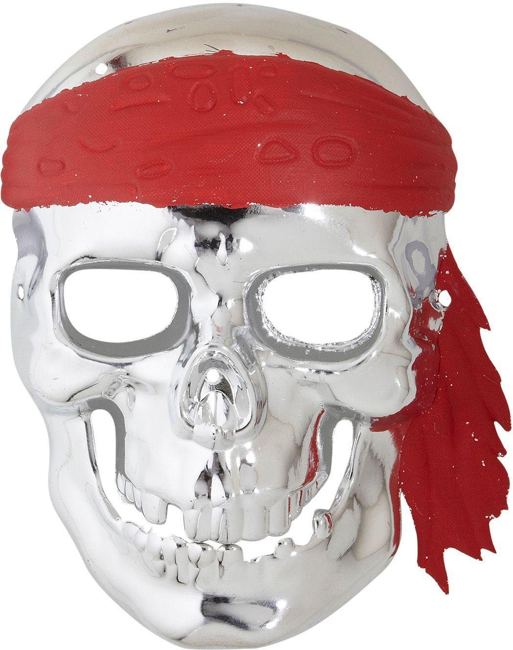 Zilveren schedelmasker piraat