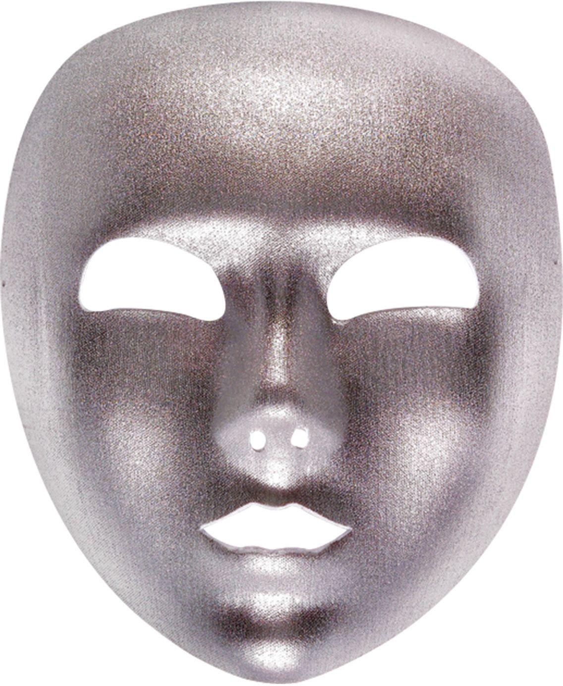 Zilveren standaard masker