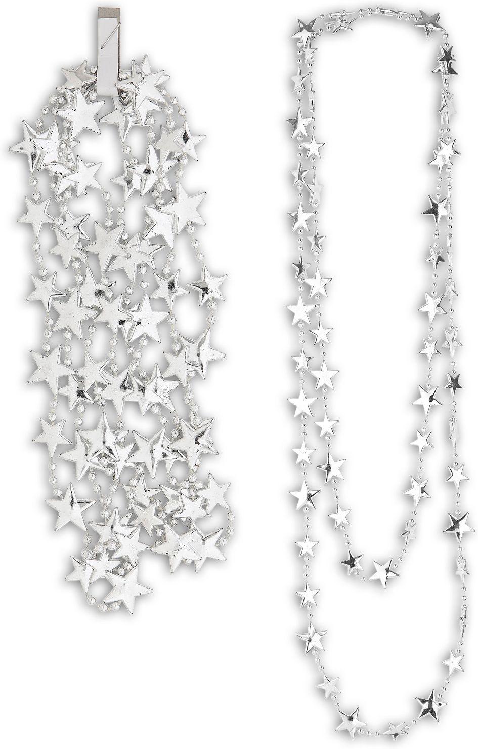 Zilveren sterren ketting