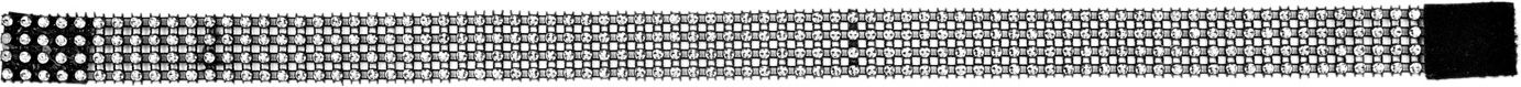 Zilveren strass nekband