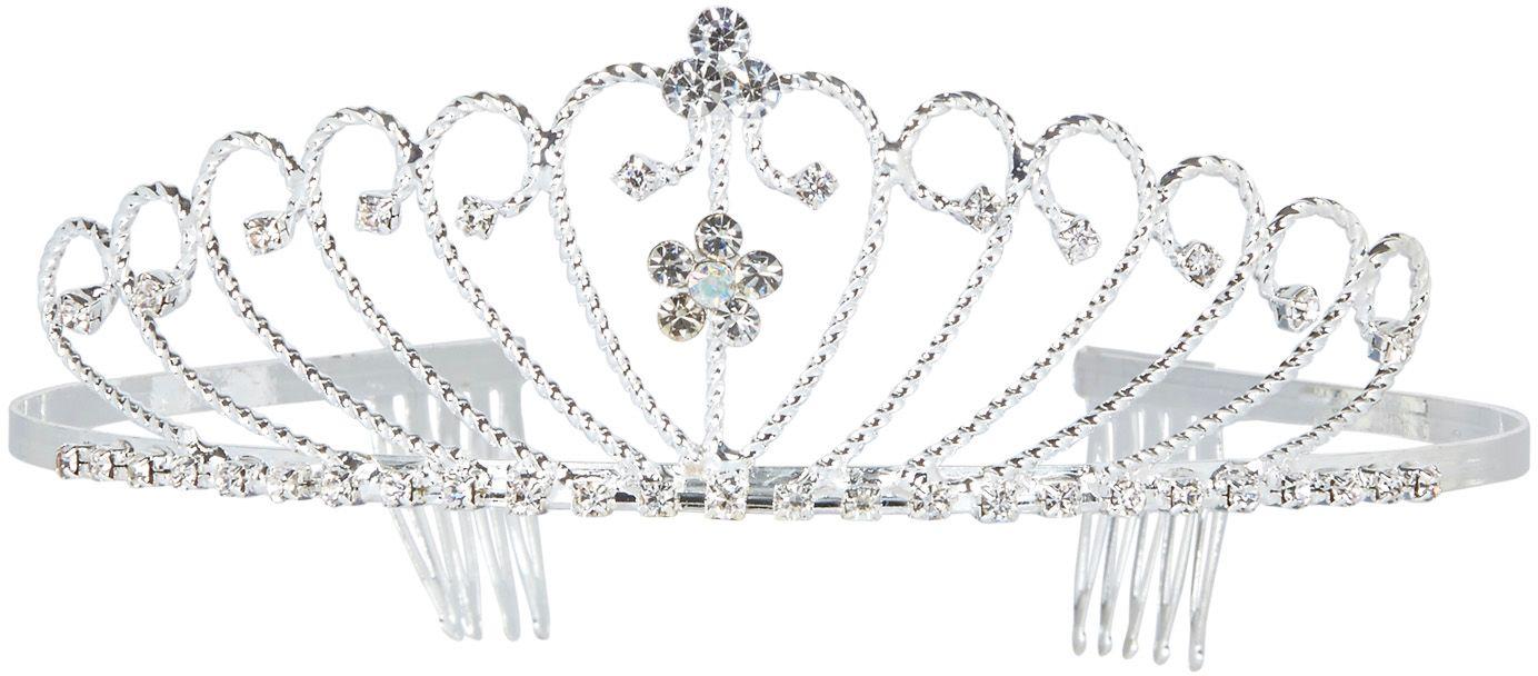 Zilveren strass tiara