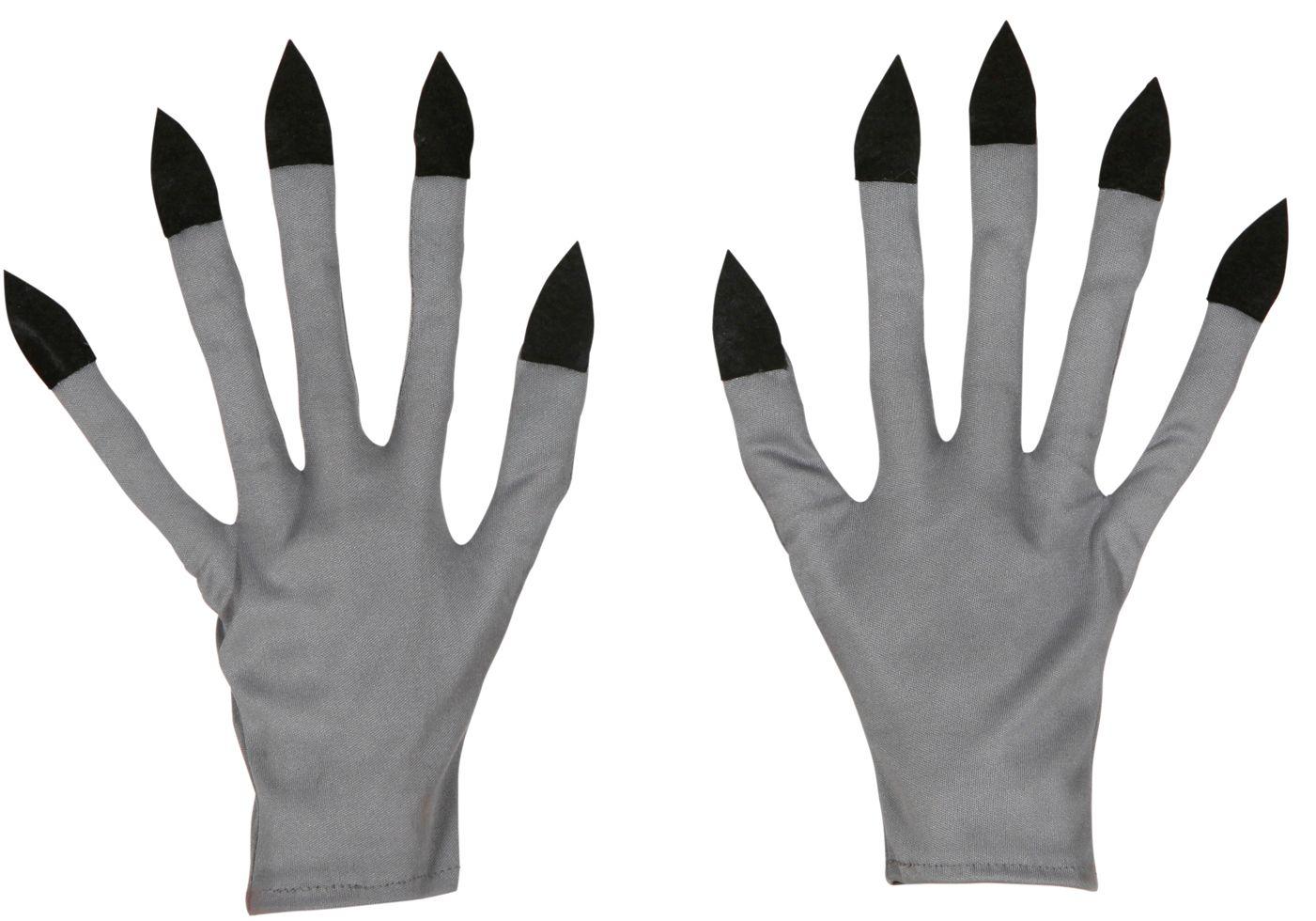 Zilveren vampier handschoenen