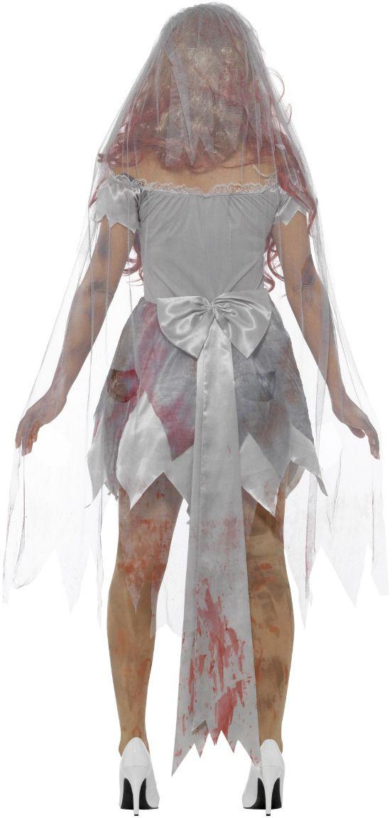Zombie bruids kostuum luxe