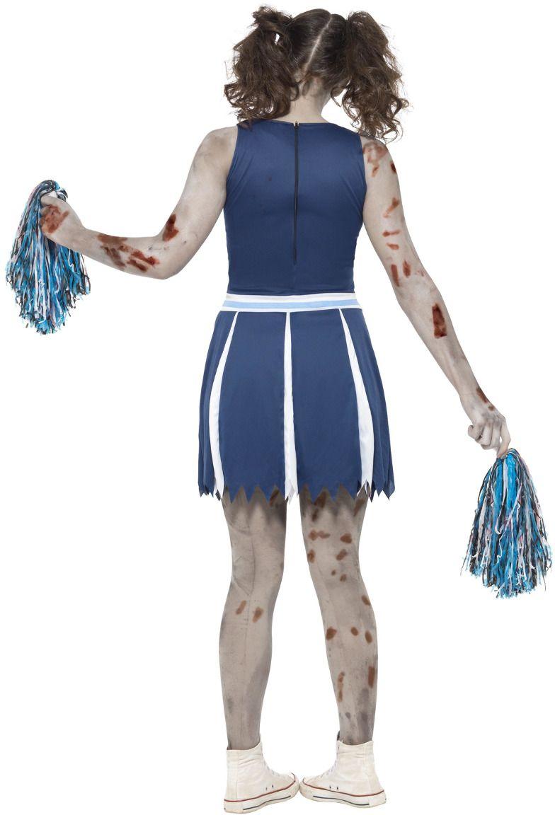 Zombie cheerleader pakje blauw