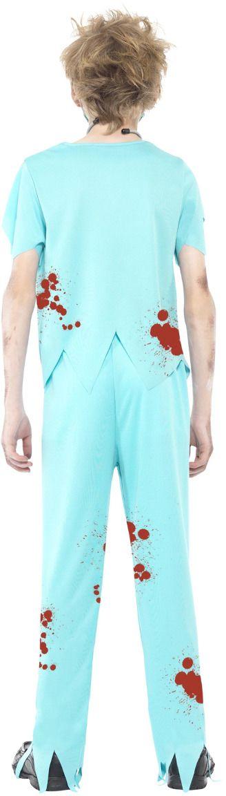 Zombie chirurg kostuum blauw