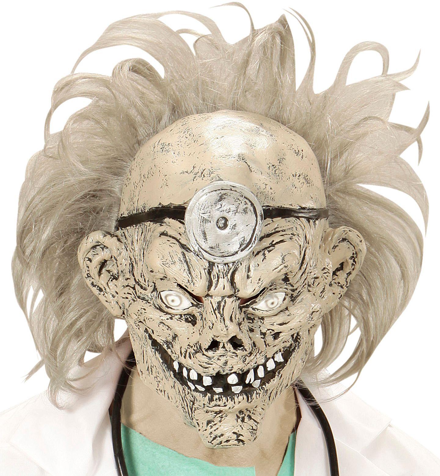 Zombie dokter masker met pruik