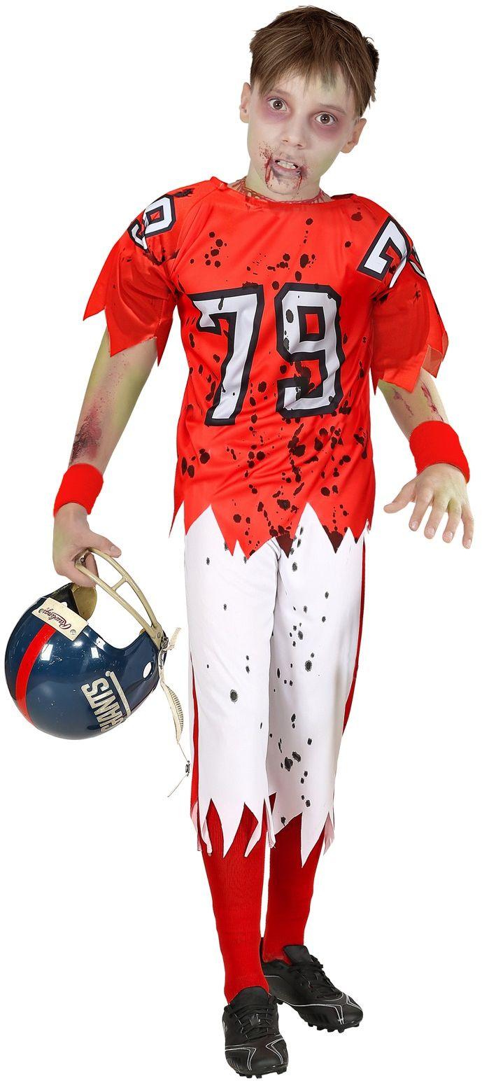 Zombie football kostuum jongens