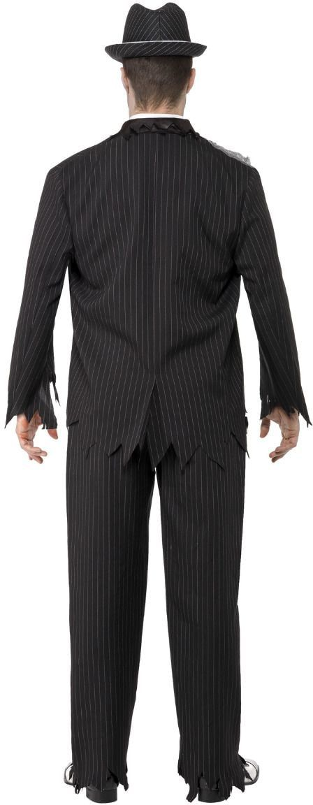 Zombie gangster kostuum zwart
