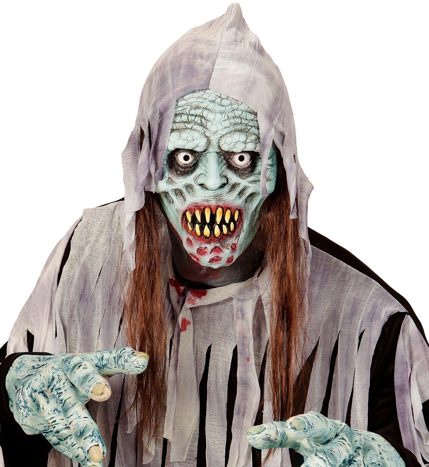 Zombie masker met haar