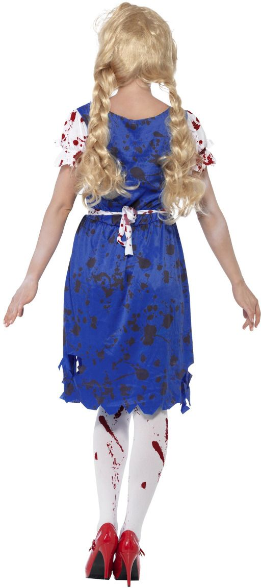 Zombie oktoberfest kostuum blauw