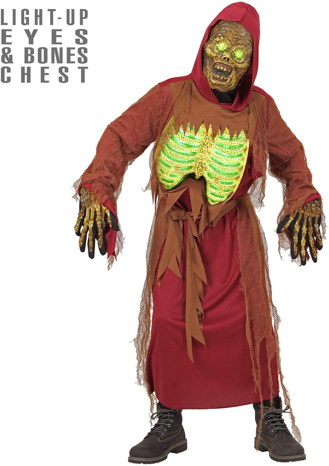 Zombie skelet kostuum