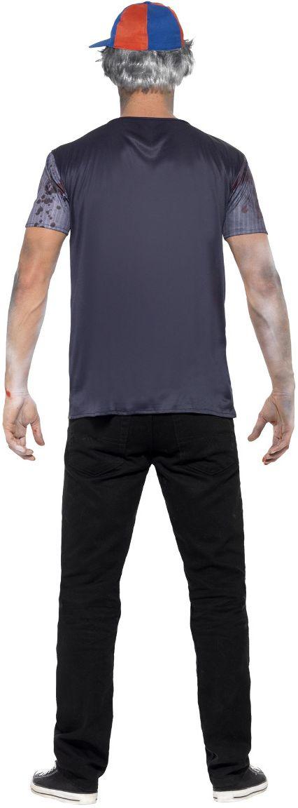 Zombie student grijze outfit