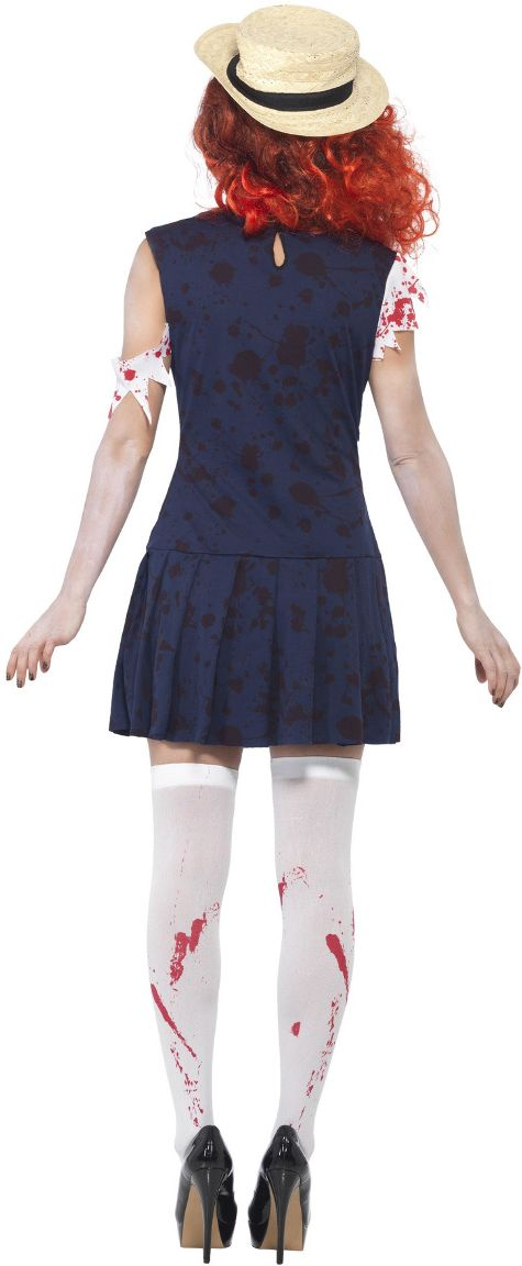 Zombie studenten outfit dames
