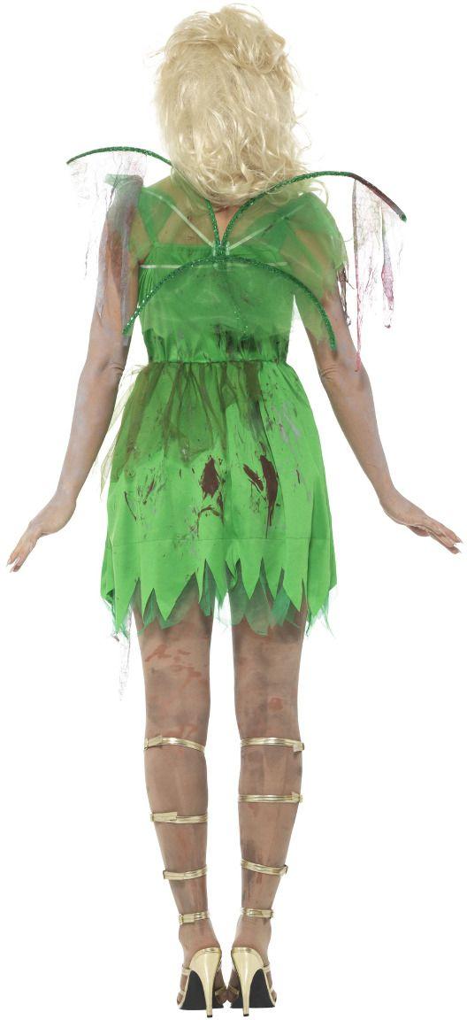 Zombie tinkerbell kostuum dames