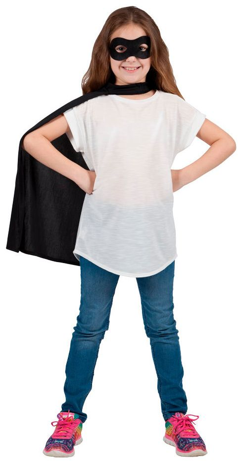 Zorro masker met cape