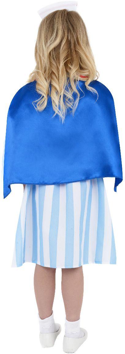 Zuster meisjes kostuum blauw