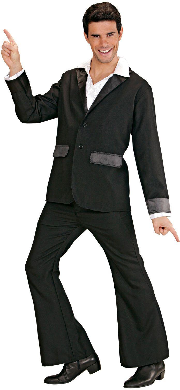 Zwart disco kostuum