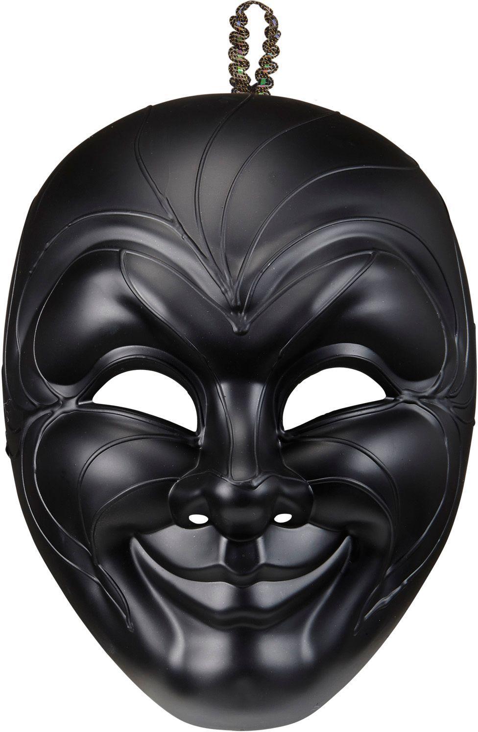 Zwart duister venetiaans masker