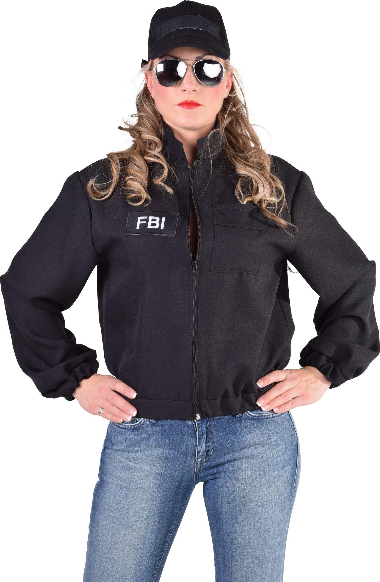 Zwart FBI jasje vrouwen