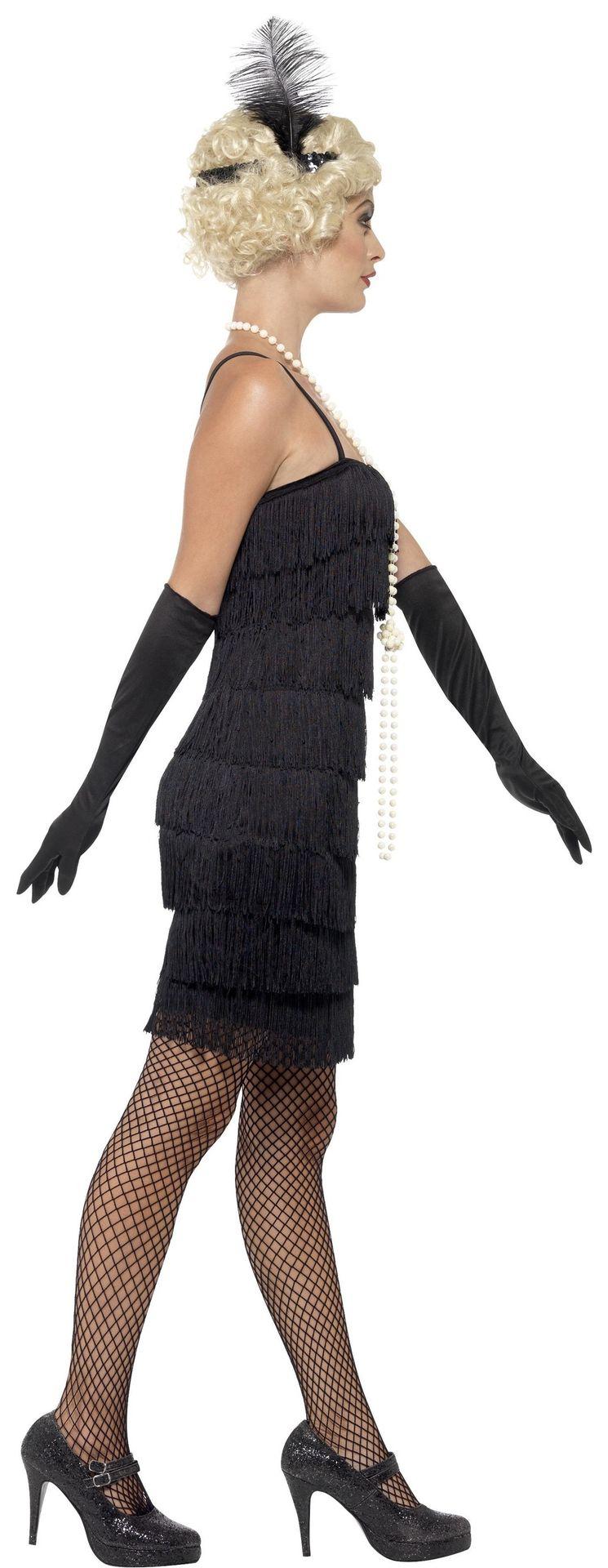 Zwart flapper jurkje dames
