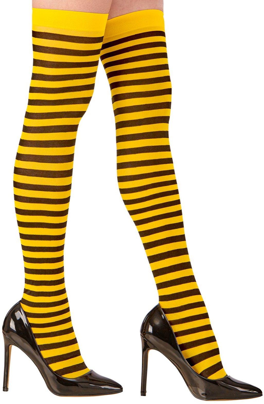 Zwart gele Kniekousen Bijtje